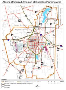 Abilene Metropolitan Planning Organization Mpo Maps